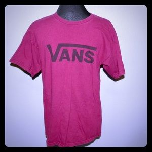 VANS Men's Graphic T-shirt Maroon Size Medium